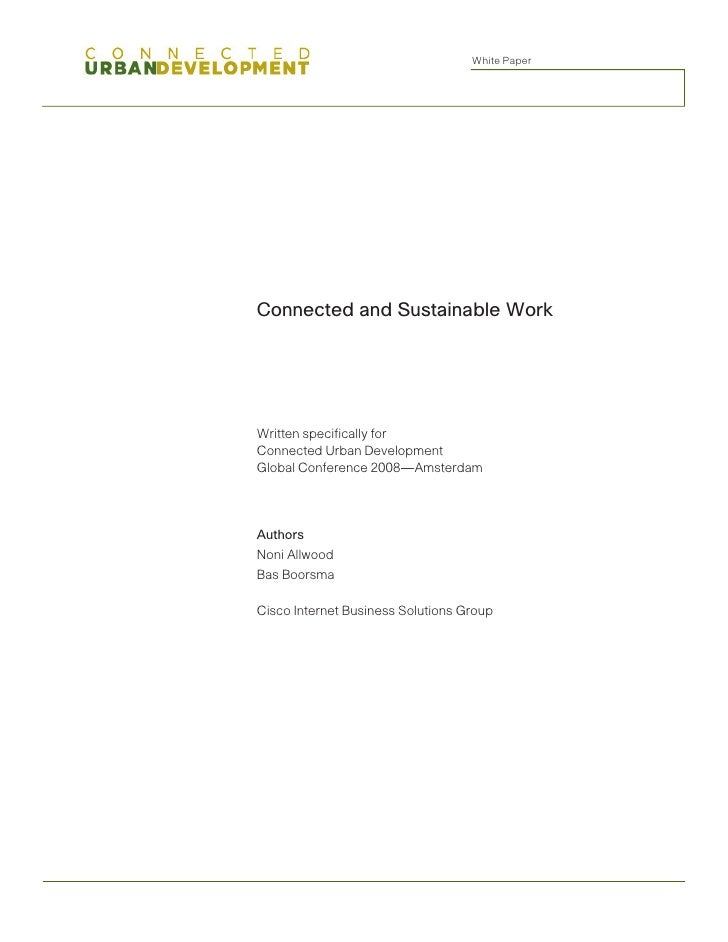 Connected and Sustainable Work Whitepaper