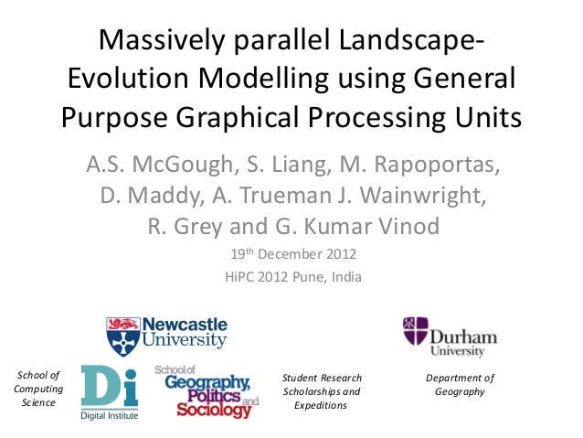 Massively Parallel Landscape-Evolution Modelling using General Purpose Graphical Processing Units