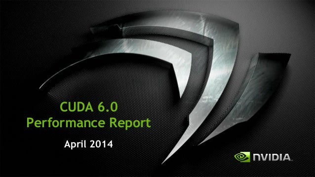 Cuda 6 performance_report