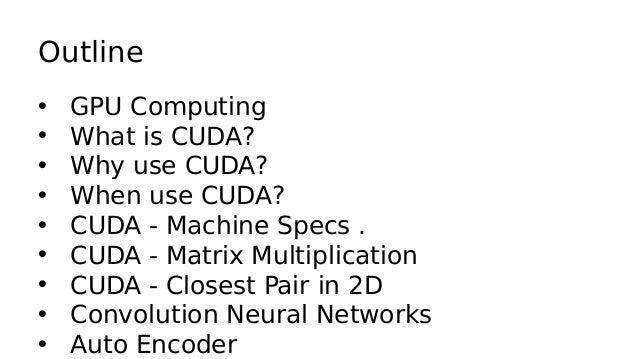 Neural Network Cuda Neural Networks • Auto