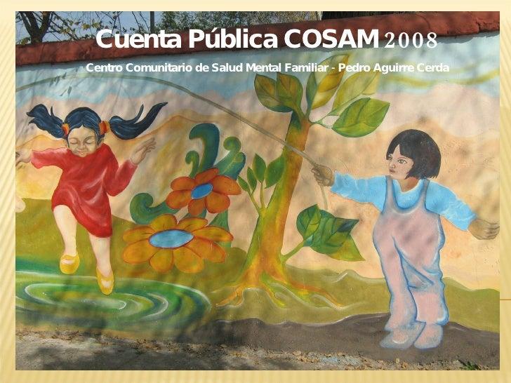 Cuenta Pública COSAM 2008 Centro Comunitario de Salud Mental Familiar - Pedro Aguirre Cerda