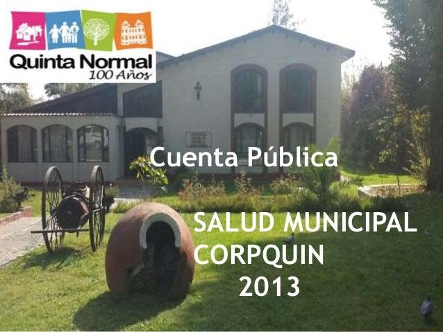 MAYO 2014 Cuenta Pública SALUD MUNICIPAL CORPQUIN 2013