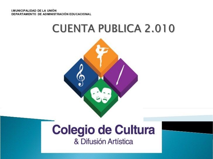 I.MUNICIPALIDAD DE LA UNIÓN DEPARTAMENTO  DE ADMINISTRACIÓN EDUCACIONAL