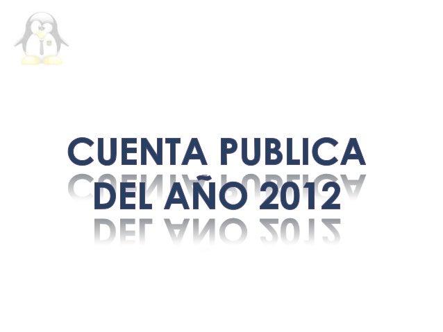 Cuenta publica 2012.