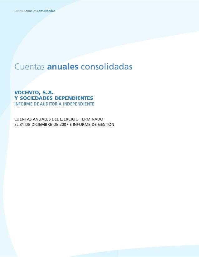 Cuentas Anuales Consolidadas Vocento 2007