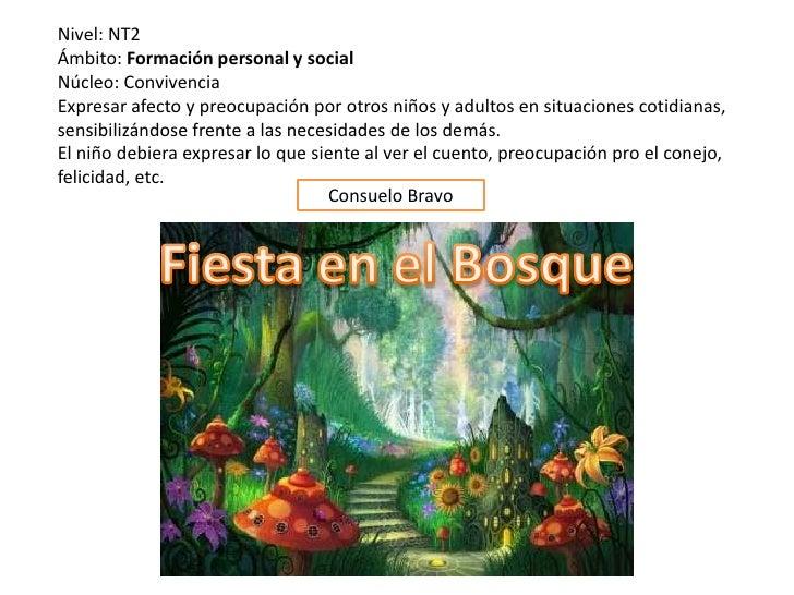 Nivel: NT2Ámbito: Formación personal y socialNúcleo: ConvivenciaExpresar afecto y preocupación por otros niños y adultos e...