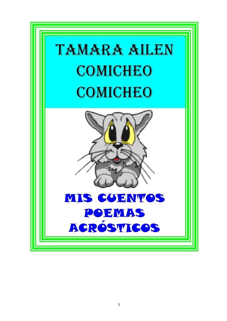 TAMARA AILEN  COMICHEO  COMICHEOMIS CUENTOS  POEMASACRÓSTICOS      1