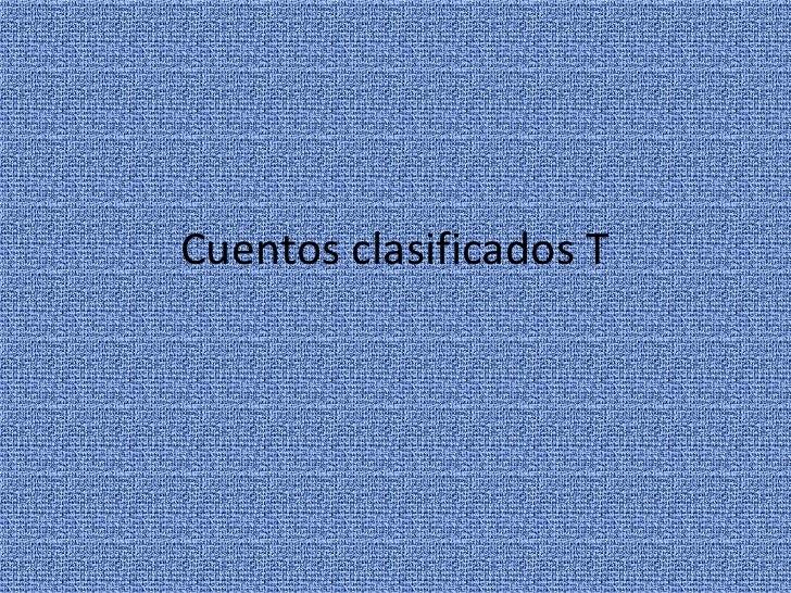 Cuentos clasificados t (2)