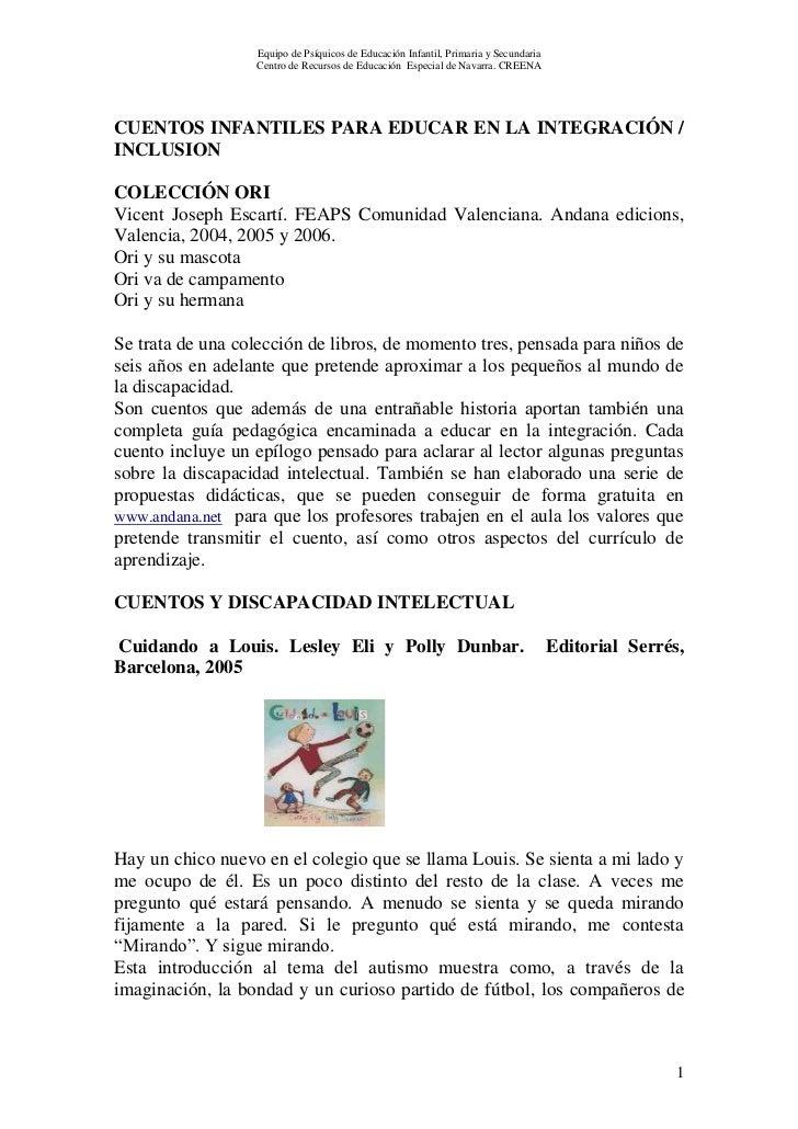 Equipo de Psíquicos de Educación Infantil, Primaria y Secundaria                  Centro de Recursos de Educación Especial...