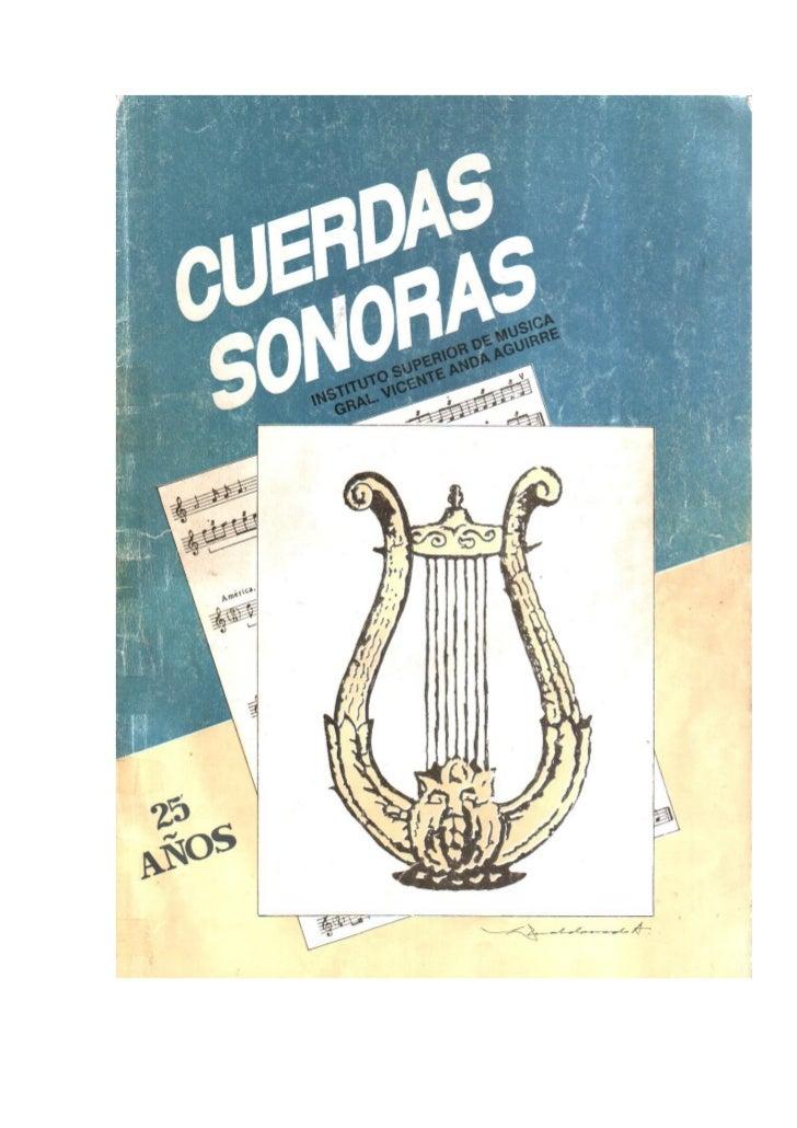 Cuerdas sonoras 1
