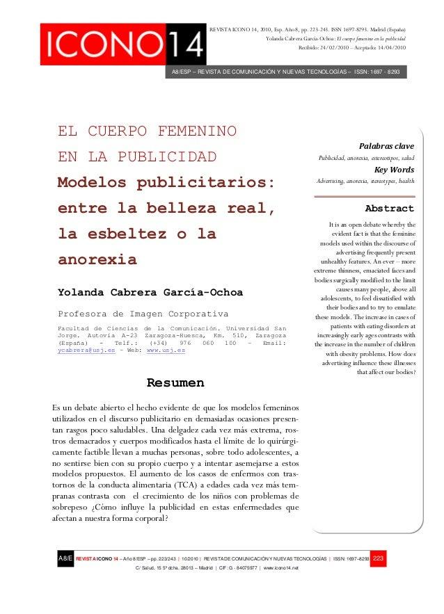 REVISTA ICONO 14, 2010, Esp. Año 8, pp. 223-243. ISSN 1697-8293. Madrid (España)                                          ...