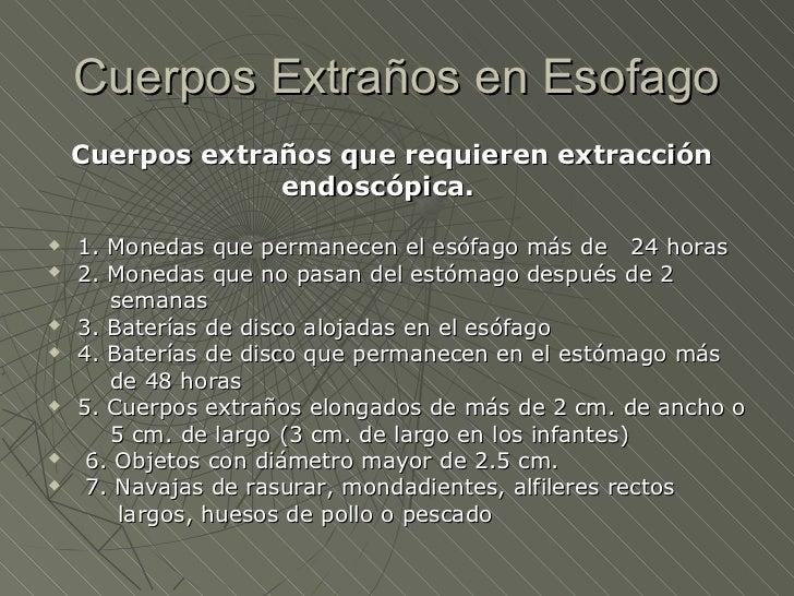 Cuerpos extraños en esofago