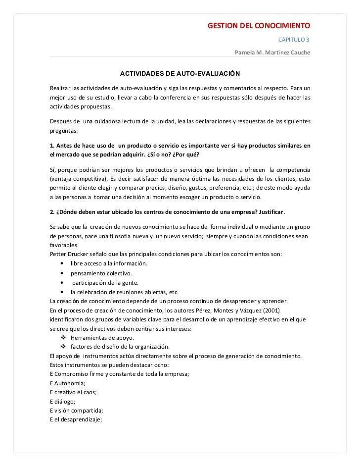 GESTION DEL CONOCIMIENTO                                                                                       CAPITULO 3 ...