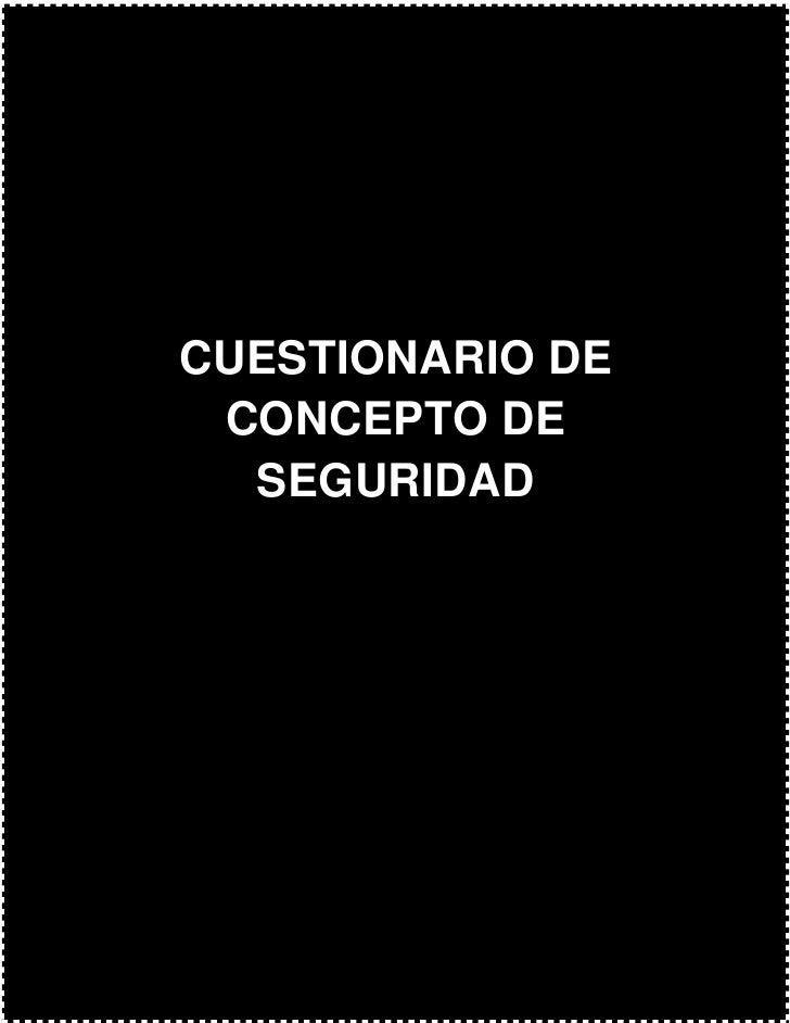 Cuestionario de concepto de seguridad