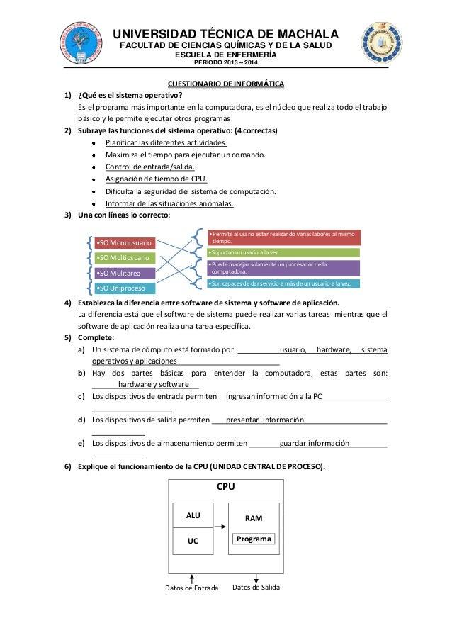 Cuestionario de informatica completo