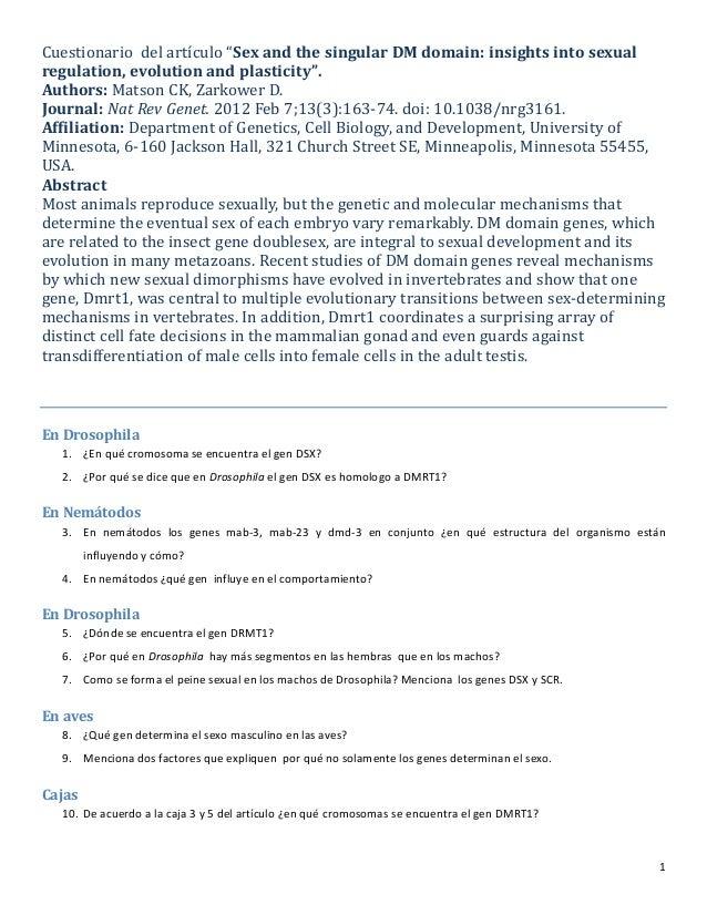 Cuestionario  del artículo DM domain