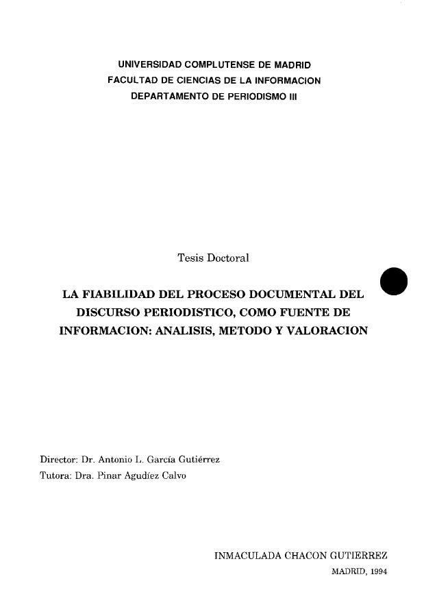UNIVERSIDAD COMPLUTENSE DE MADRID FACULTAD DE CIENCIAS DE LA INFORMACION DEPARTAMENTO DE PERIODISMO III Se recuerda a! lec...