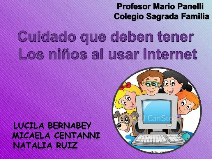 Cuidado de los niños internet