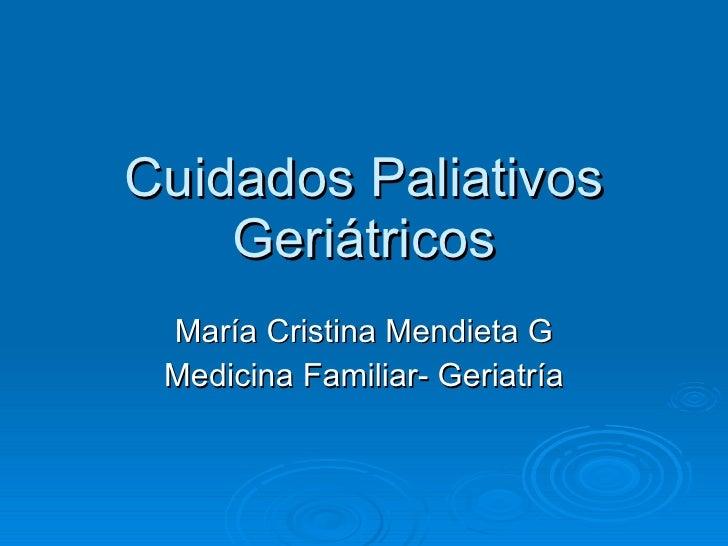 Cuidados paliativos geriátricos # 1