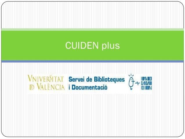 Base de datos Cuiden Plus