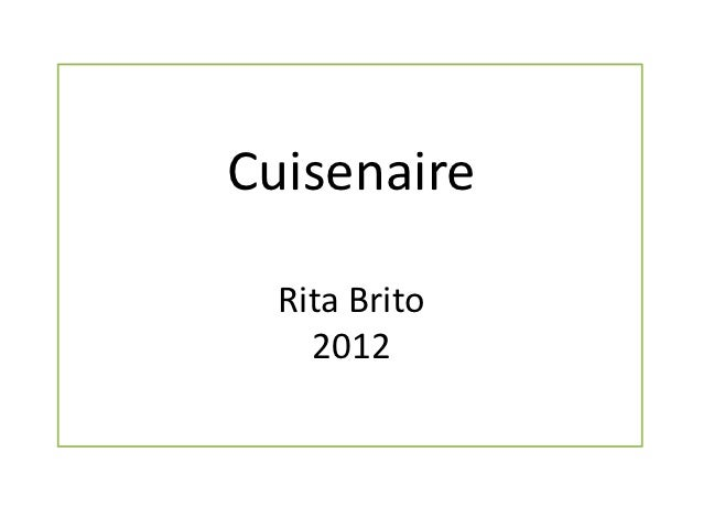 Cuisenaire  Rita Brito    2012