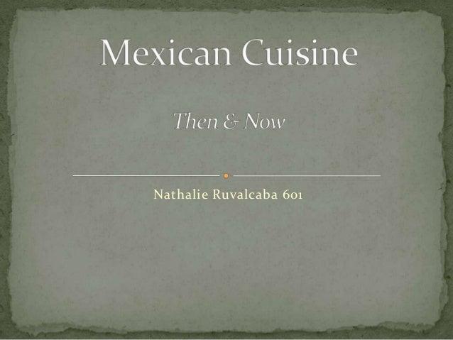 Cuisine then/now
