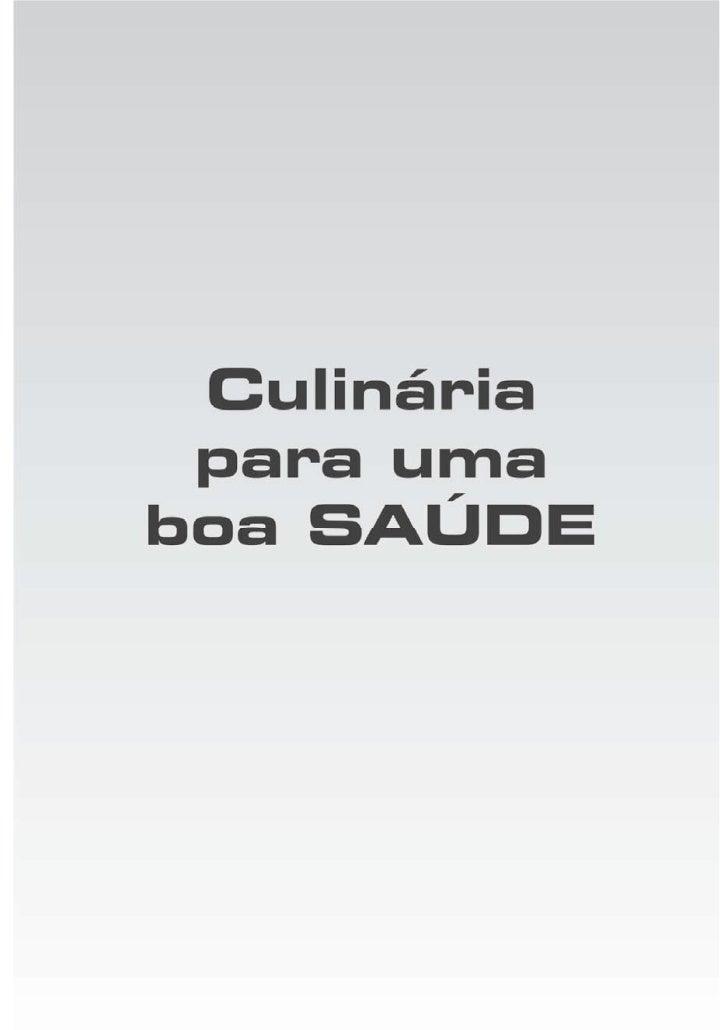 Culinaria para uma boa saude