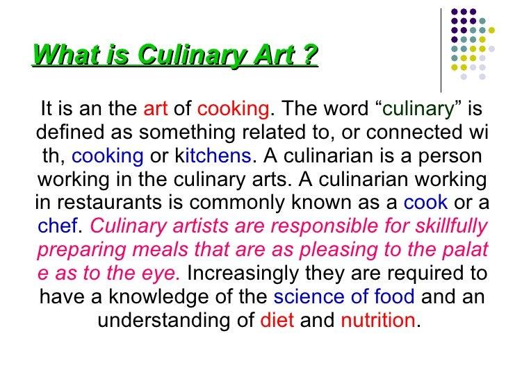 Culinary Art Kitchen Operation