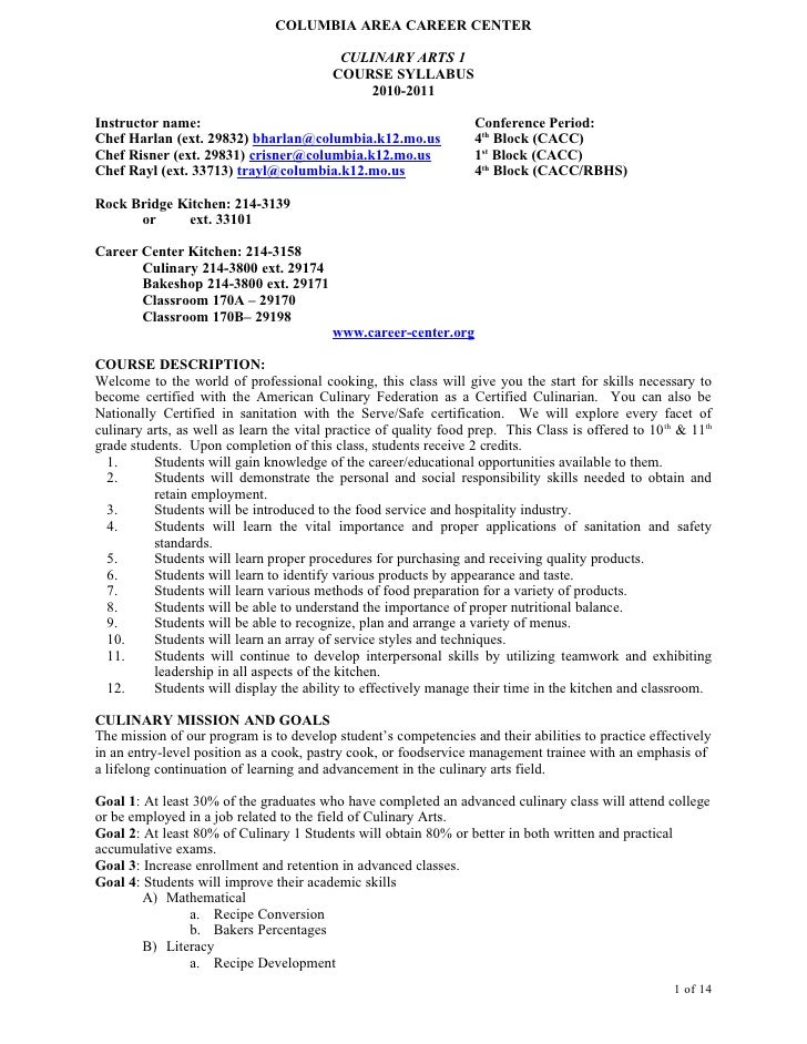 28+ [ Sample Resume For Culinary Arts Student ] | Resume
