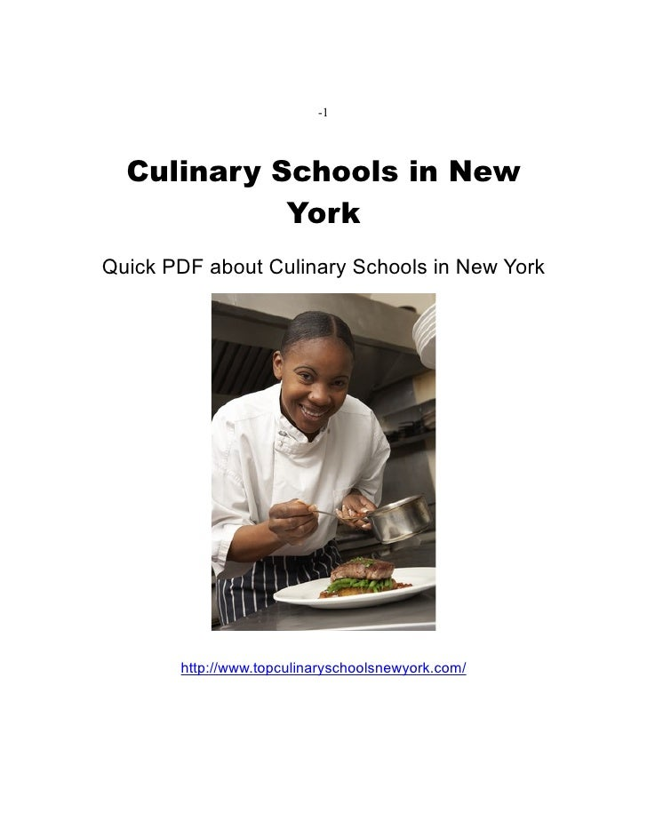 Culinary schools in New York PDF