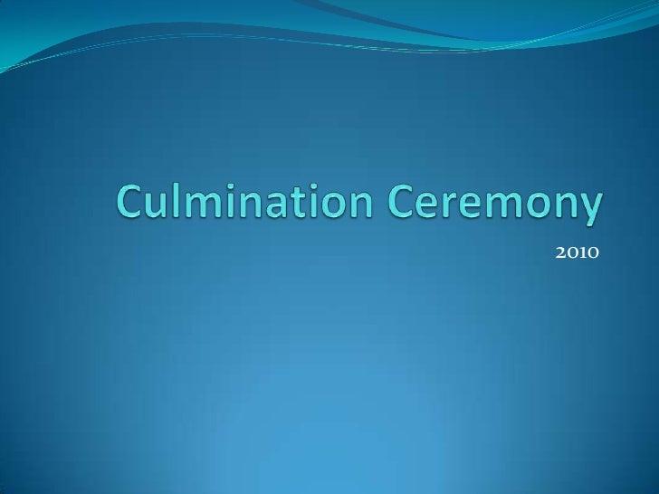 Culmination ceremony photo album