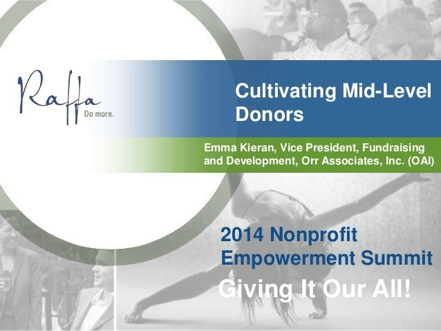 Cultivating Mid-Level Donors