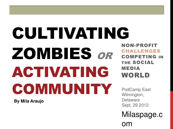 CULTIVATINGZOMBIES OR                 NON-PROFIT                 CHALLENGES                 COMPETING IN                 T...