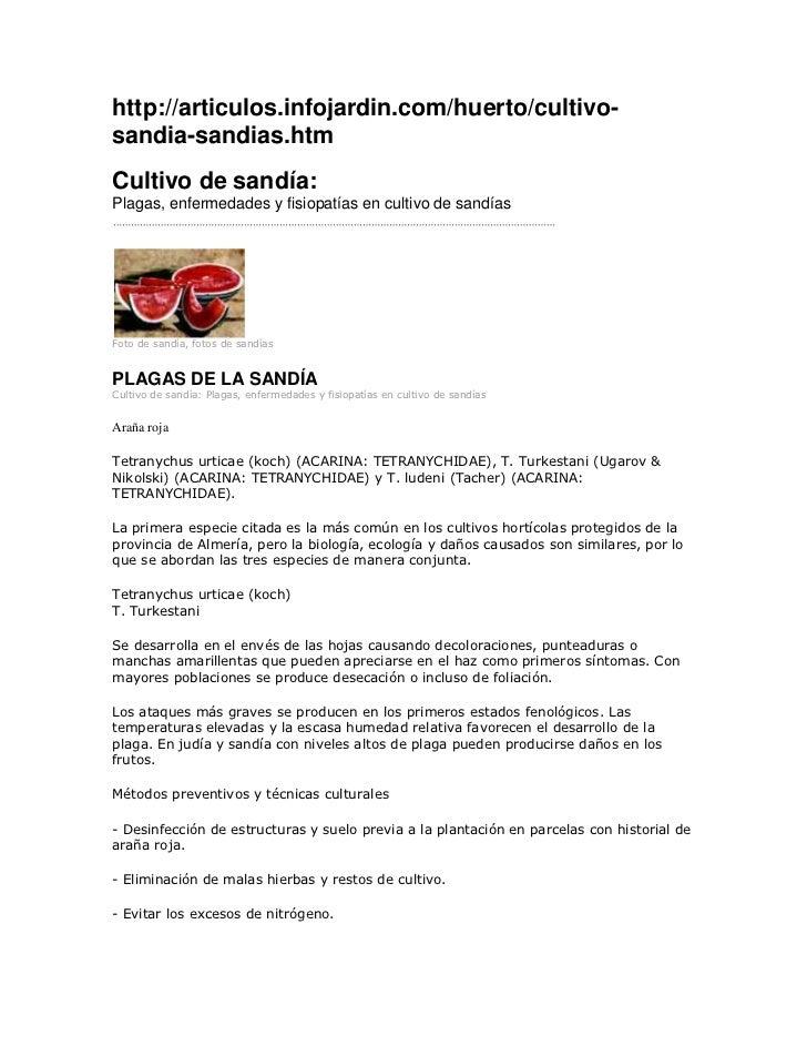 http://articulos.infojardin.com/huerto/cultivo-sandia-sandias.htmCultivo de sandía:Plagas, enfermedades y fisiopatías en c...