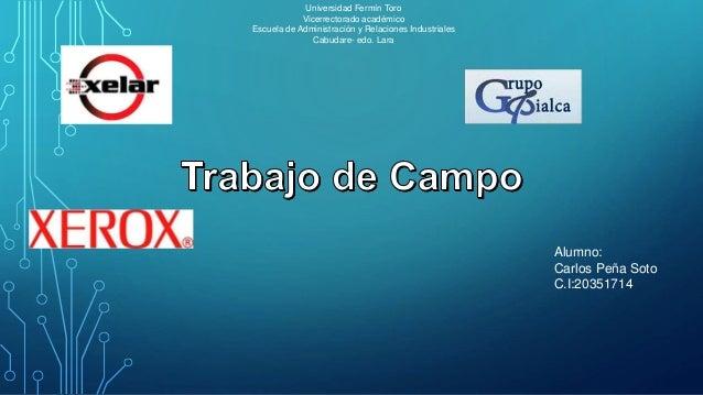 Universidad Fermín Toro Vicerrectorado académico Escuela de Administración y Relaciones Industriales Cabudare- edo. Lara A...