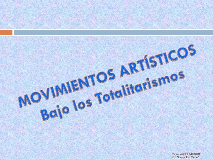 """M. C. García Chimeno IES """"Leopoldo Cano"""""""