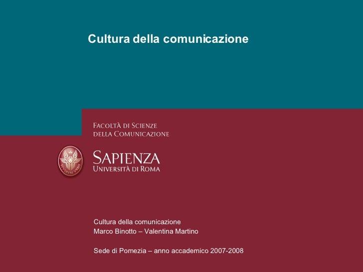 Cultura Della Comunicazione   Presentazione V1.0