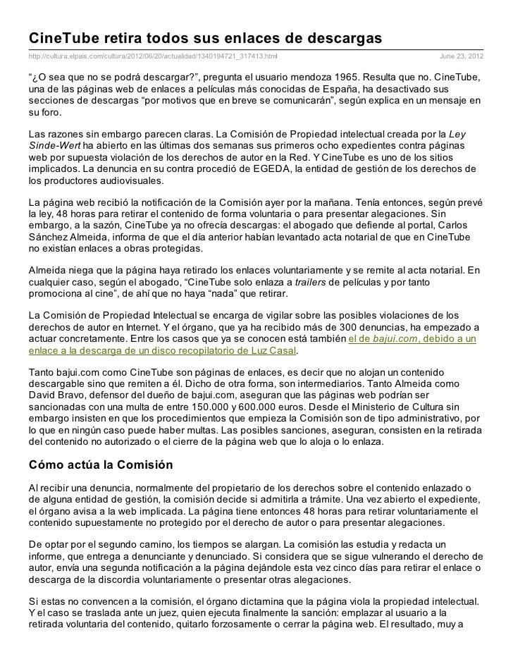 CineTube retira todos sus enlaces de descargashttp://cultura.elpais.com/cultura/2012/06/20/actualidad/1340194721_317413.ht...