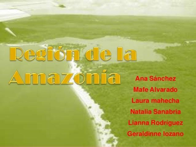 Ana Sánchez Mafe Alvarado Laura mahechaNatalia SanabriaLianna RodríguezGeraldinne lozano