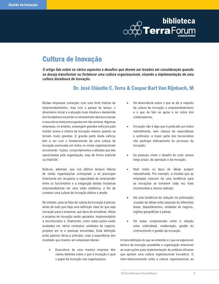 Cultura de inovacao