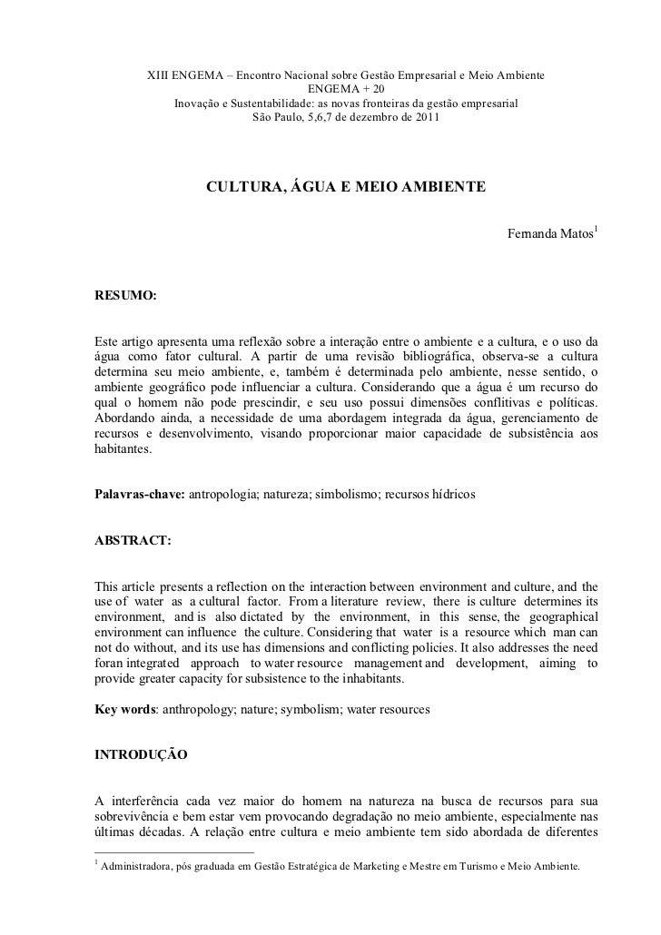 XIII ENGEMA – Encontro Nacional sobre Gestão Empresarial e Meio Ambiente                                            ENGEMA...