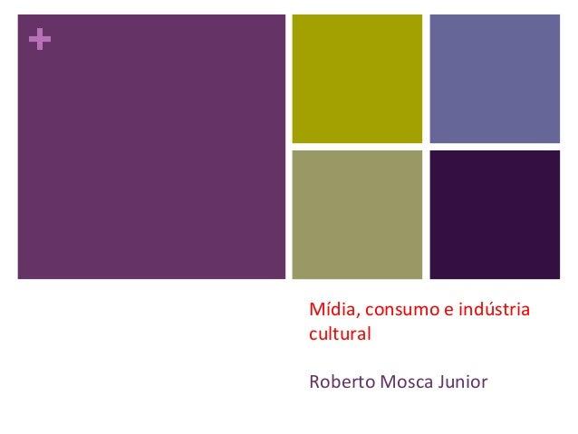 + Mídia, consumo e indústria cultural Roberto Mosca Junior