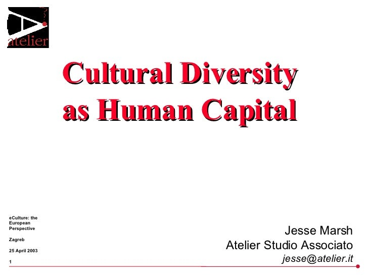 Cultural Diversity as Human Capital Jesse Marsh Atelier Studio Associato [email_address]