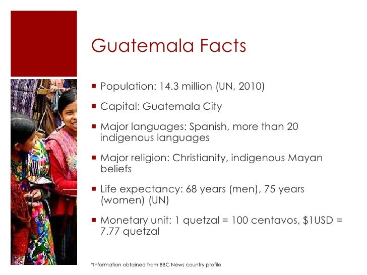 Guatemala History Facts Guatemala Facts Population
