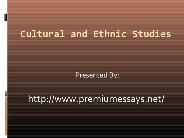 ethnic studies essay
