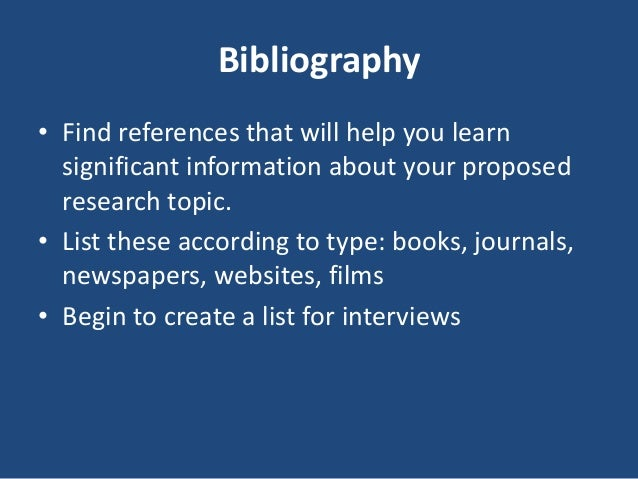 Phd research proposal bibliography