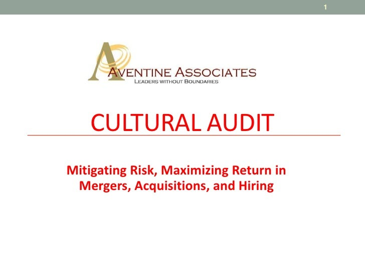 CULTURAL AUDIT<br />Mitigating Risk, Maximizing Return in Mergers, Acquisitions, and Hiring<br />1<br />
