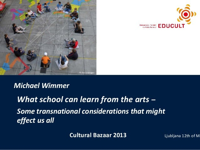 What school can learn from the arts