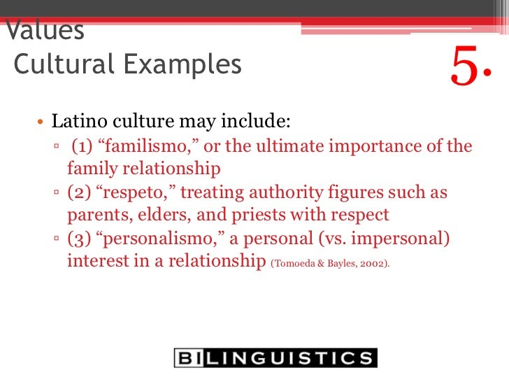 Latino Culture Facts Latino Culture May Include