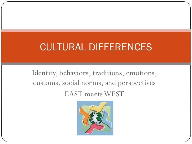 Cultural differences speech